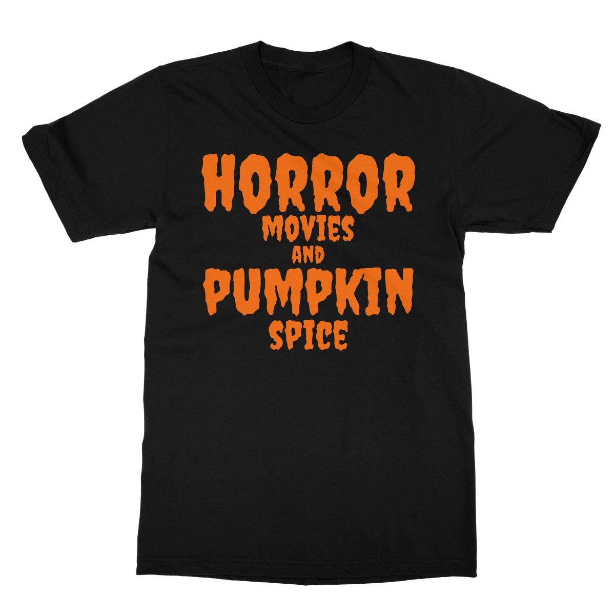 Halloween Apparel - Horror Movies and Pumpkin Spice  Softstyle T-Shirt