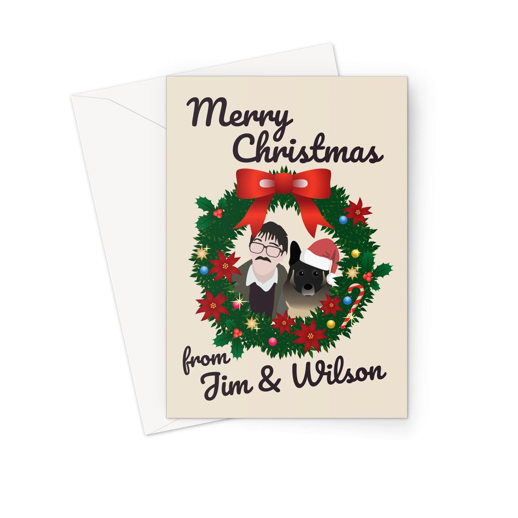 Friday Night Dinner Greetings Card - Jim and Wilson Christmas Card (Merry Christmas)