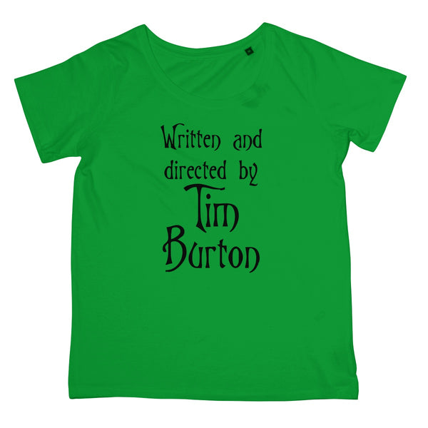 Halloween Apparel - Written and Directed by Tim Burton Women's Retail T-Shirt