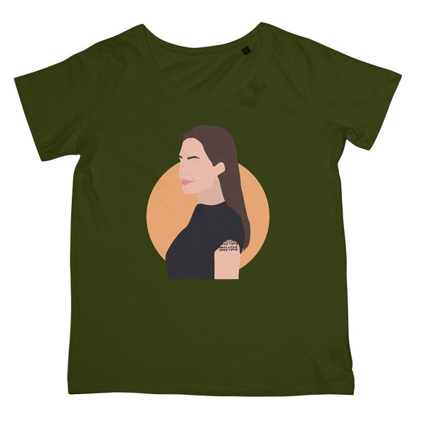 Angelina Jolie T-Shirt (Hollywood Icon Collection, Women's Fit, Big Print)