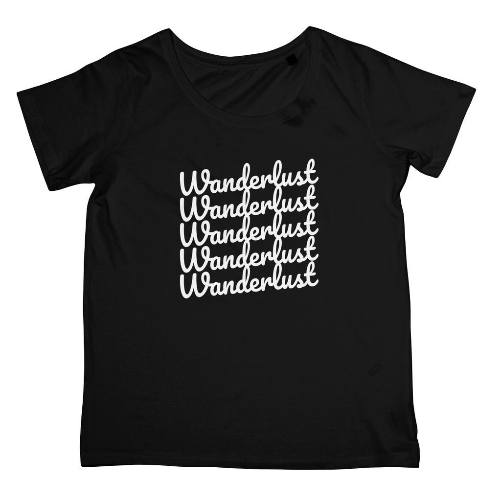Ladies Travel Apparel - Wanderlust Print T-Shirt