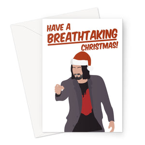 Have a Breathtaking Christmas Keanu Reeves Fan Love Greeting Card