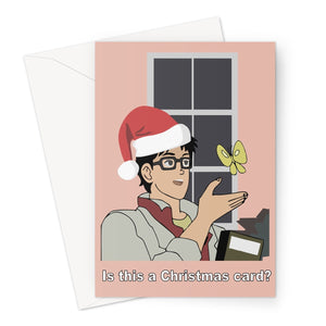 Is this a Christmas Card Funny Meme Anime Pigeon Greeting Card