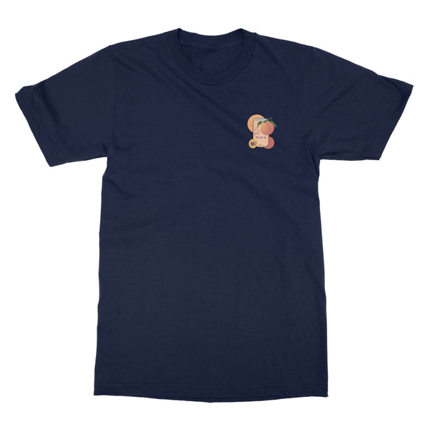Japanese Peach Alcohol Drink T-Shirt (Foodie Collection, Left-Breast Print)