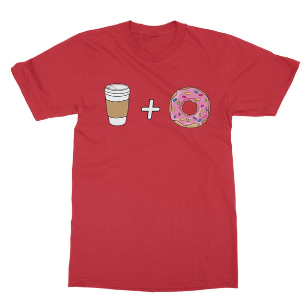 Coffee and Donuts T-Shirt (Foodie Collection, Big Print)
