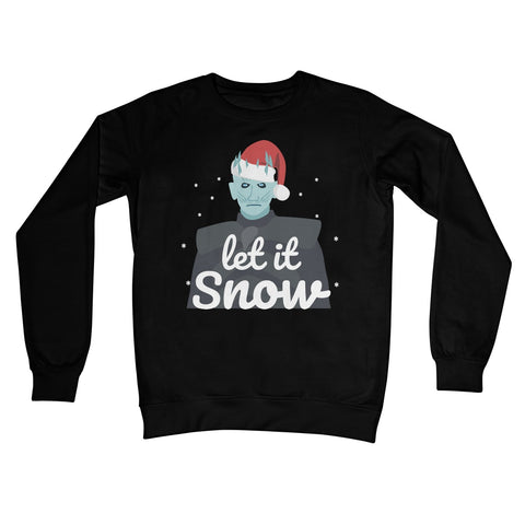 Let it Snow Jumper Night King Funny Fan Creepy Game of Thrones Cute Meme Gift Christmas Xmas Festive Crew Neck Sweatshirt