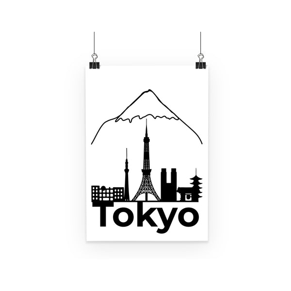 Travel Collection Homeware - Tokyo Minimal Print Poster (Black & White)