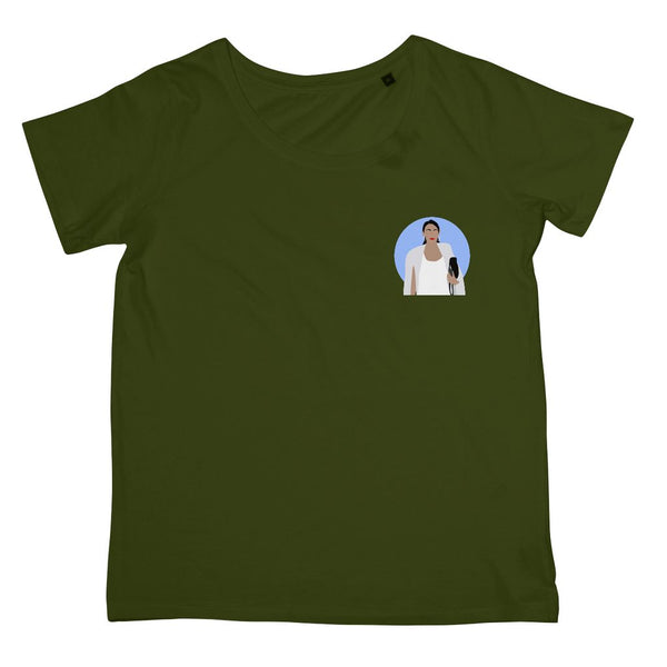 Cultural Icon Apparel - Alexandria Ocasio-Cortez (AOC) Women's Fit T-Shirt (Left-Breast Print)