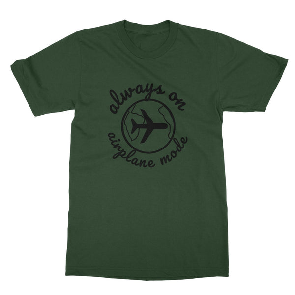 Travel Collection Apparel - Always on Airplane Mode T-Shirt (Big Print)
