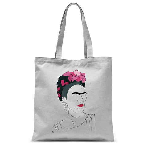 Cultural Icon Apparel - Frida Kahlo Tote Bag (Hand-Drawn Style)