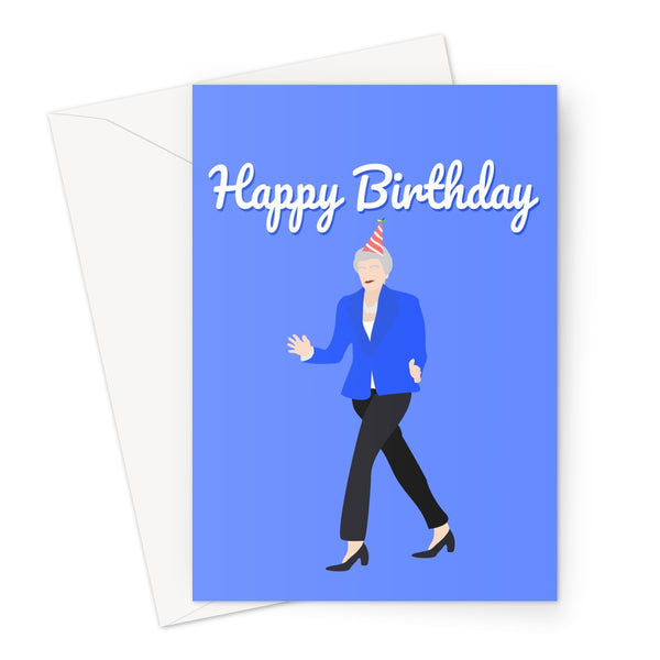 Theresa May Happy Birthday Text Card Greeting Card