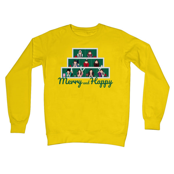 Merry and Happy Twice Fan Funny Christmas Jumper Kpop Music Gift Crew Neck Sweatshirt
