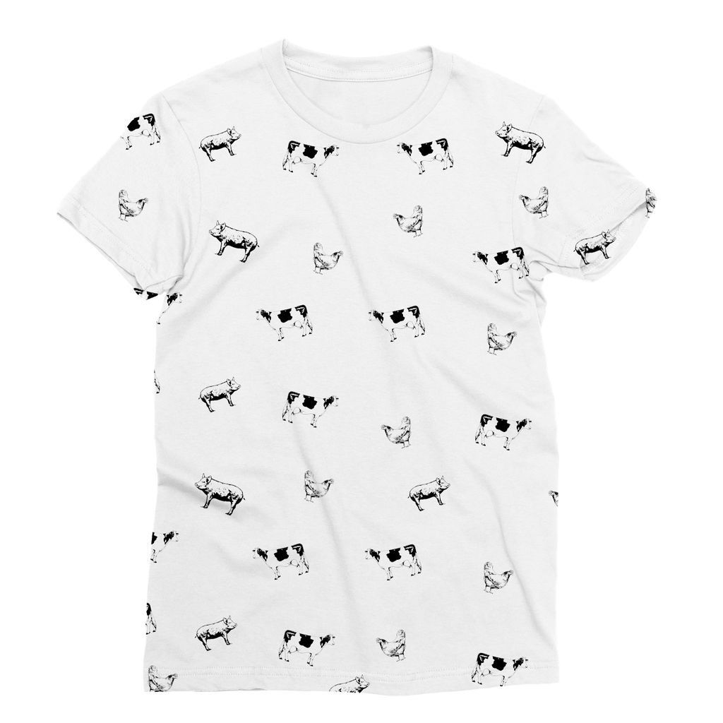 Vegan Friendly Cow Print T-Shirt (Nature Collection)