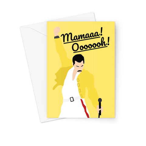 Freddie Mercury Mother's Day Card (Queen, Bohemian Rhapsody Birthday Card)