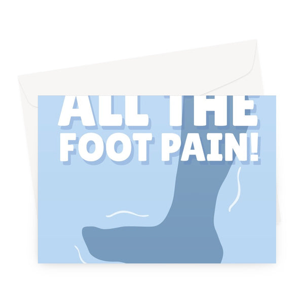 Sorry For All The Foot Pain Father's Day Birthday Dad Funny Stepping on a Lego Brick Ouch Childhood Greeting Card