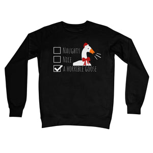 Naughty Nice A Horrible Goose NEW Funny Christmas Jumper Festive Xmas Gamer Cute Crew Neck Sweatshirt