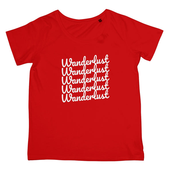 Red Wanderlust Print Women's T-Shirt