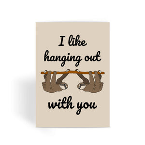 Nature Collection Greetings Card - 'I Like Hanging Out With You' Cute Sloth CardNature Collection Greetings Card - 'I Like Hanging Out With You' Cute Sloth Card