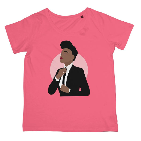 Musical Icon Apparel - Janelle Monae Women's Fit T-Shirt (Big Print)