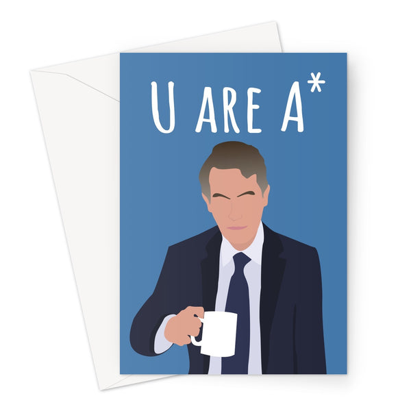 U Are A* (You Are A Star) Gavin Williamson Tory Conservative Government Shambles A Level GCSE Results Grades Downgrade Congratulations Commiserations Birthday Anniversary Greeting Card
