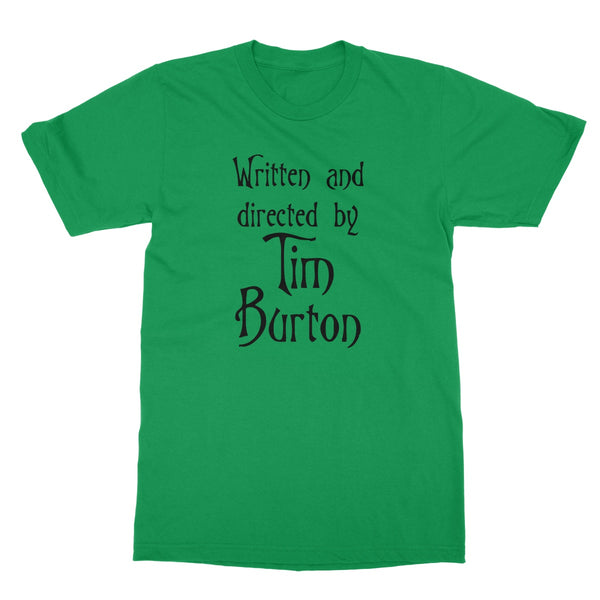 Halloween Apparel - Written and Directed by Tim Burton Softstyle T-Shirt
