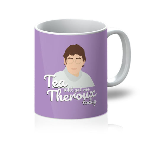 Louis Theroux Homeware - 'Tea Will Get Me Theroux Today' Mug