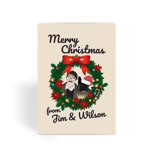 Jim and Wilson Merry Christmas Xmas Love Funny Friday Night Dinner Greeting Card