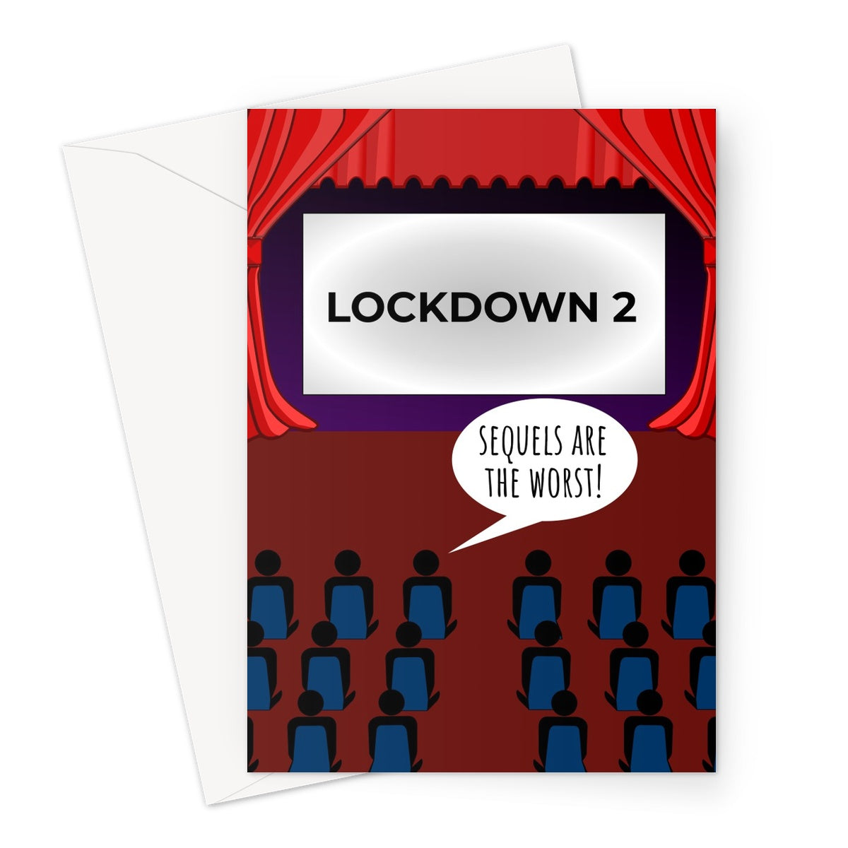 LOCKDOWN 2 - Sequels are the Worst Cinema Funny Pun Meme Pandemic Virus Birthday Christmas Anniversary Greeting Card
