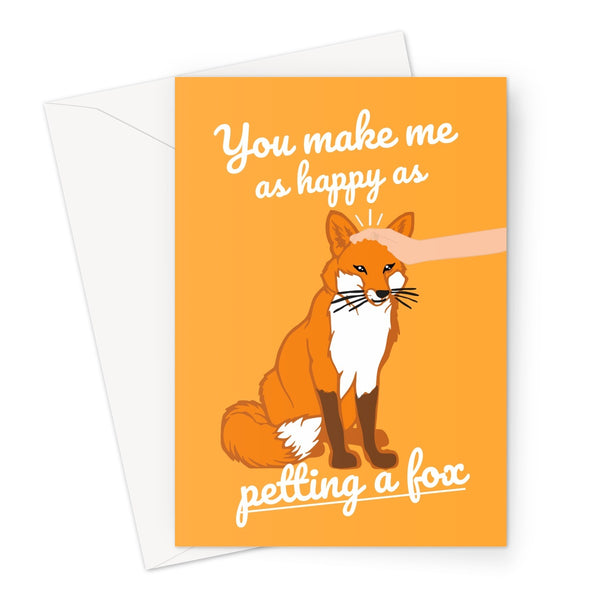 You Make Me as Happy as Petting a Fox Ghost of Tsushima Love Fan Gamer Birthday Anniversary Gift Cute Shrine Video Game Greeting Card