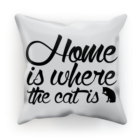 Nature Collection Homeware - 'Home Is Where The Cat Is' Cushion