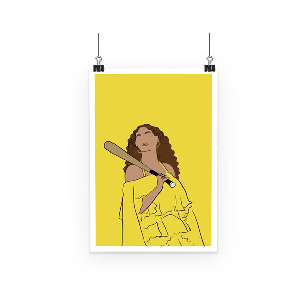 Musical Icon Poster - Beyonce Knowles Carter (Minimal-Style Poster)