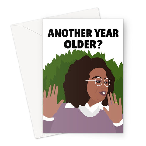 Another Year Older ? Oprah Meghan and Harry Interview Birthday Funny Silent or Silenced Royal Greeting Card