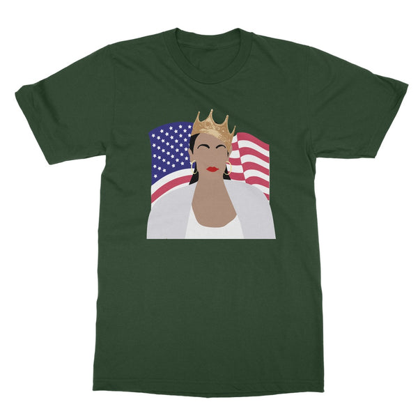 Notorious AOC Biggie Smalls American Flag Design Softstyle T-Shirt