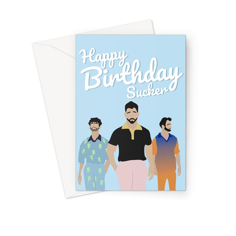 Jonas Brothers Birthday Card (Sucker)