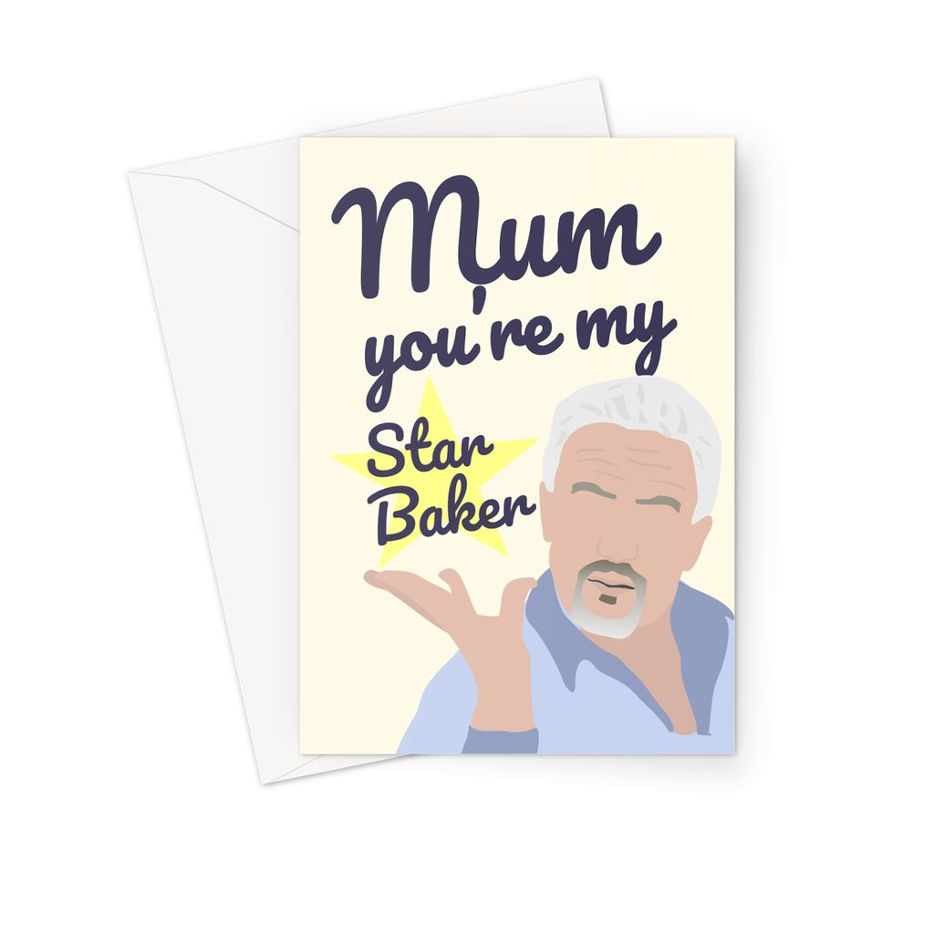 Paul Hollywood Mother's Day Card - 'Mum, You're My Star Baker' (The Great British Bake Off Greetings Card)