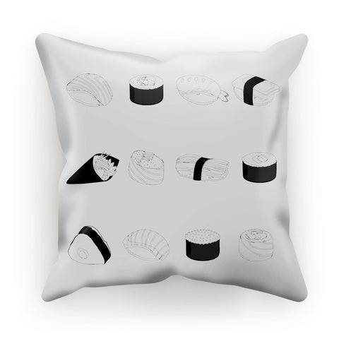 Foodie Collection Homeware - Sushi Cushion (Line Art/Japan-Themed Homeware)