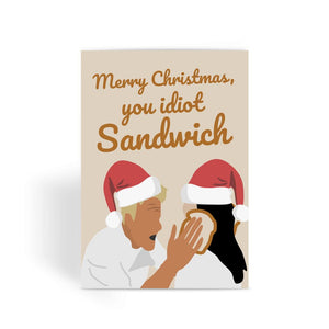 Gordon Ramsay Christmas Card - 'Merry Christmas You Idiot Sandwich'