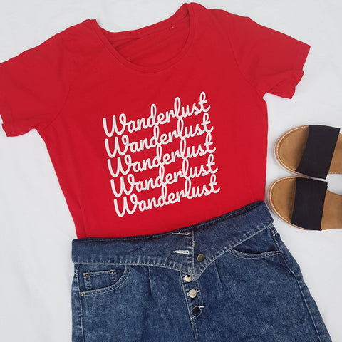 Wanderlust T Shirt - Travel Fashion For Women by The New Aesthetic
