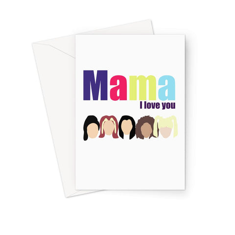 Mama I Love You Spice Girls Retro Fan Mother's Day Birthday Greeting Card