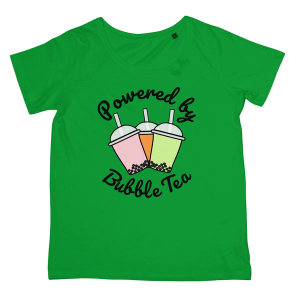 Powered By Bubble Tea T-Shirt (Foodie Collection, Women's Fit)