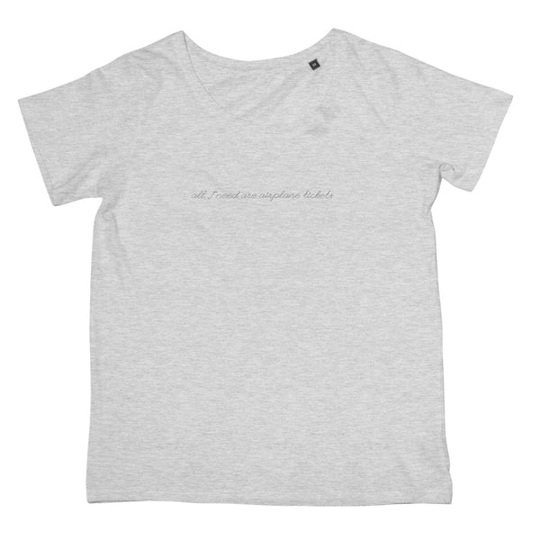 Travel Collection Apparel - 'All I need are Airplane Tickets' T-Shirt (Women's Fit)