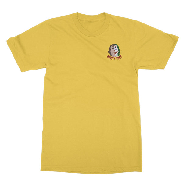 Joker Put on a Happy Face Film Apparel (left-breast small print) Softstyle T-Shirt