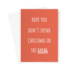 Hope You Don't Spend Christmas in the Gulag Funny Meme COD Video Game Gamer Prison Boyfriend Girlfriend Battle Royale Greeting Card
