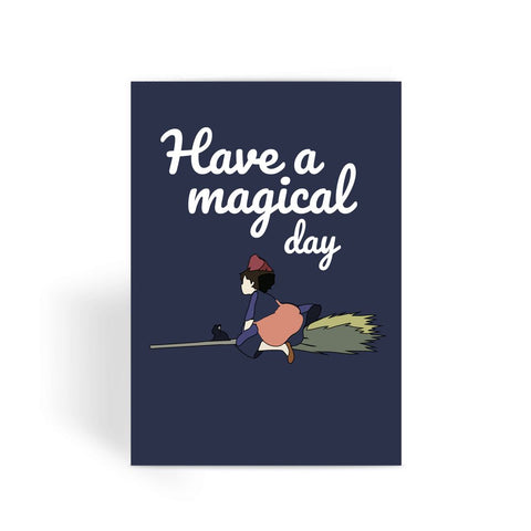 Kiki's Delivery Service fan card. Kiki's Delivery Service birthday card. Studio Ghibli birthday cards