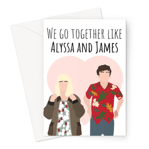 We Go Together Like Alyssa and James Love Gift Birthday Anniversary  Greeting Card
