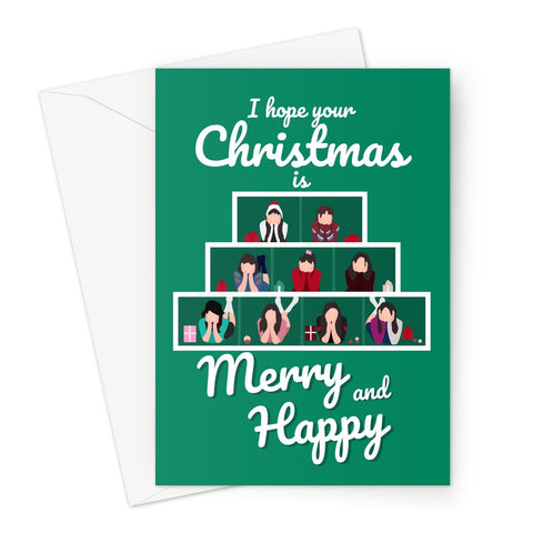 I hope your Christmas is Merry and Happy Twice Music Fan Greeting Card