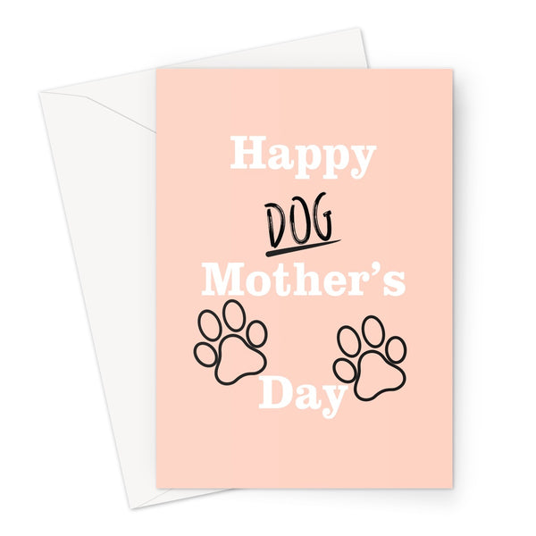 Happy Dog Mothers Day Minimalist  Love Funny Fan Gift Dog Mom Mum Owner Puppy Spaniel Pug Sausage Bull Golden Retriever  Greeting Card