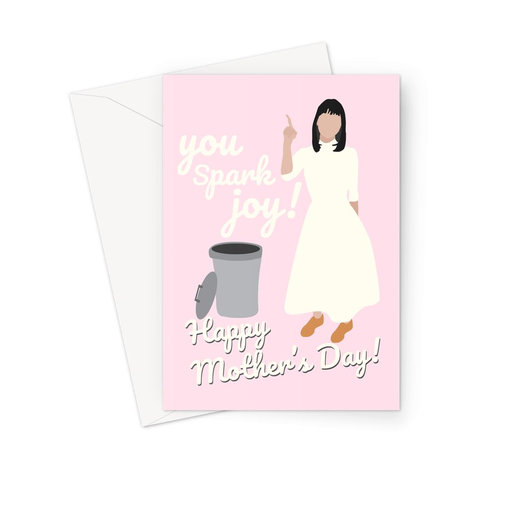 Marie Kondo Mother's Day Card - 'You Spark Joy' (Pink)