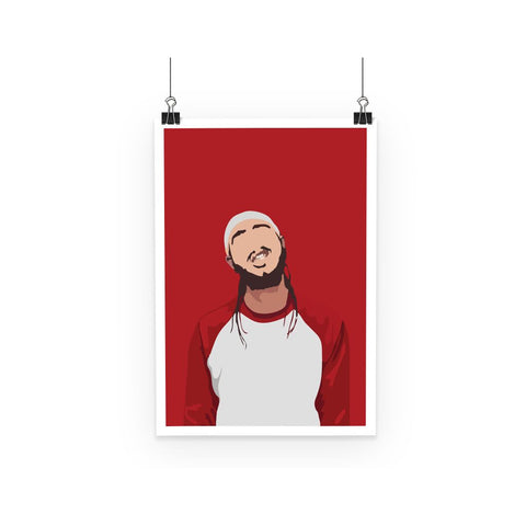 Post Malone Minimalist Music Icon Poster