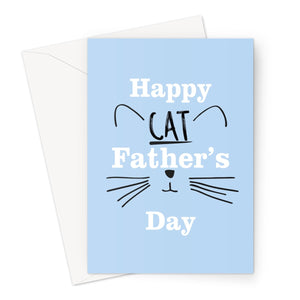 Happy Cat Father's Day Dad Kitten Love Whiskers Fan Funny Cute Greeting Card
